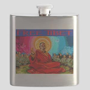 FREE TIBET Flask