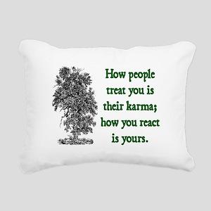 KARMA Rectangular Canvas Pillow