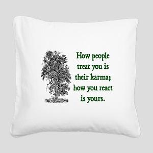 KARMA Square Canvas Pillow