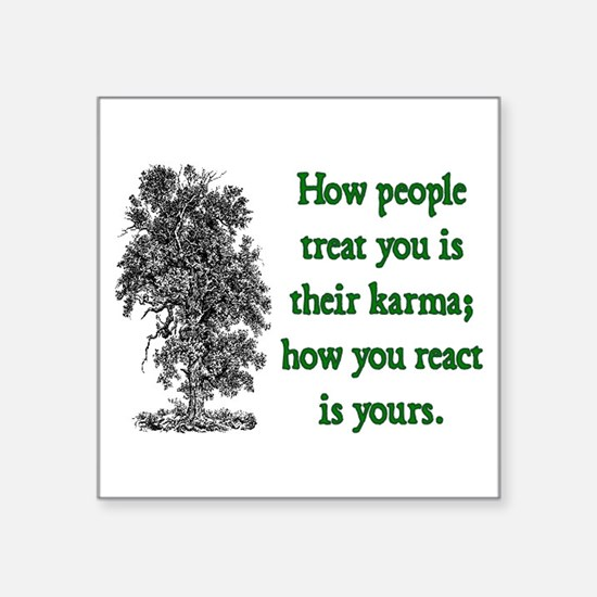 "KARMA Square Sticker 3"" x 3"""