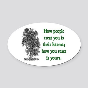 KARMA Oval Car Magnet