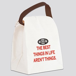 BEST THINGS IN LIFE Canvas Lunch Bag