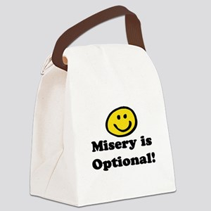 MISERY IS OPTIONAL Canvas Lunch Bag