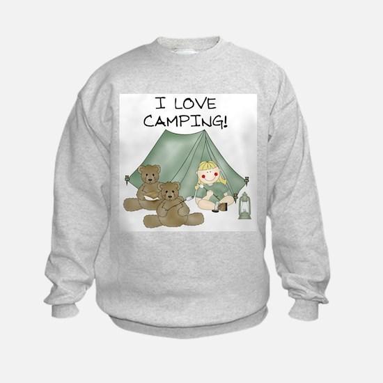 I Love Camping (Girl) Sweatshirt