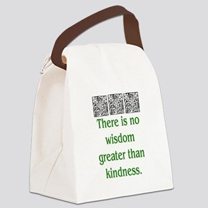 THERE IS NO KINDNESS... (GREEN) Canvas Lunch Bag