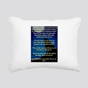CHEROKEE LESSON Rectangular Canvas Pillow