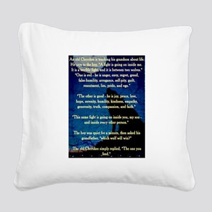CHEROKEE LESSON Square Canvas Pillow