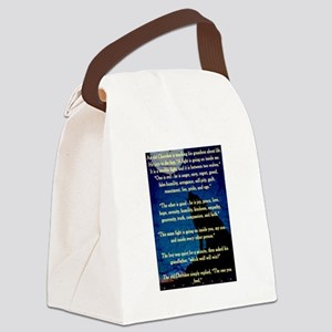 CHEROKEE LESSON Canvas Lunch Bag