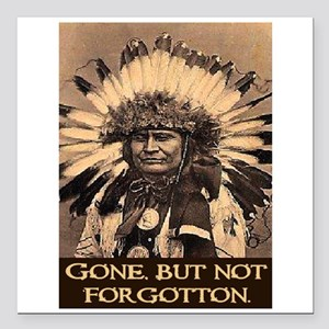 "GONE, BUT NOT FORGOTTON Square Car Magnet 3"" x 3"""