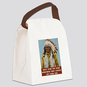 CRY OVER... Canvas Lunch Bag