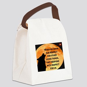 SHOW RESPECT FOR ALL Canvas Lunch Bag