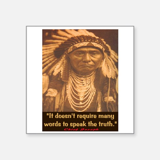 "SPEAK THE TRUTH Square Sticker 3"" x 3"""