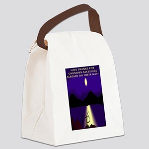 GIVE THANKS.. Canvas Lunch Bag