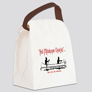 WE ARE ALL RELATED Canvas Lunch Bag
