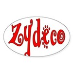 Zydeco Oval Sticker