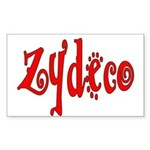 Zydeco Rectangle Sticker