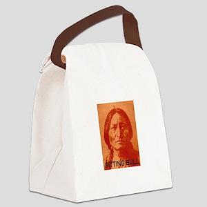 SITTING BULL (Orange) Canvas Lunch Bag