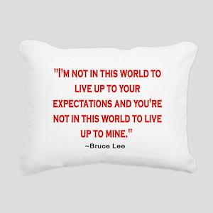 BRUCE LEE QUOTE Rectangular Canvas Pillow
