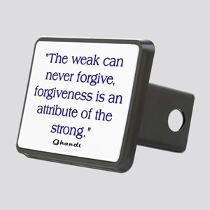 THE WEAK CONNOT FORGIVE Rectangular Hitch Cover