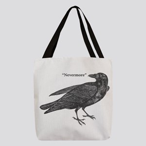 Nevermore Raven Polyester Tote Bag
