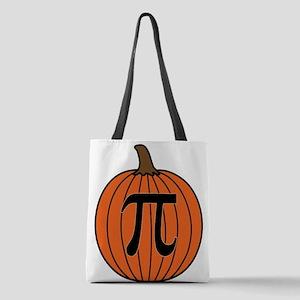 Pumpkin Pi Polyester Tote Bag