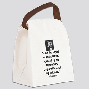 EMERSON - WHAT LIES WITHIN US. Canvas Lunch Bag