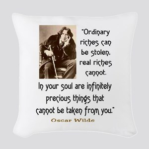 OSCAR WILDE QUOTE Woven Throw Pillow