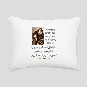 OSCAR WILDE QUOTE Rectangular Canvas Pillow