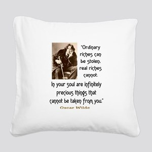 OSCAR WILDE QUOTE Square Canvas Pillow