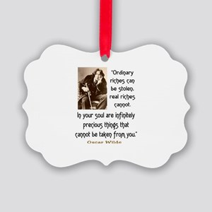 OSCAR WILDE QUOTE Picture Ornament