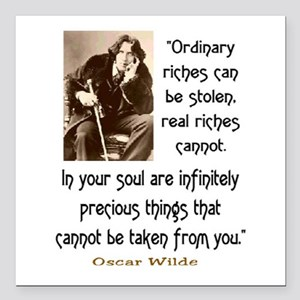 "OSCAR WILDE QUOTE Square Car Magnet 3"" x 3"""