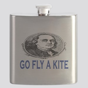 GO FLY A KITE - BEN FRANKLIN Flask