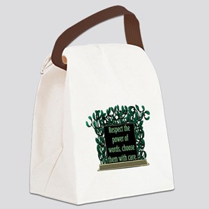 THE POWER OF WORDS.. Canvas Lunch Bag