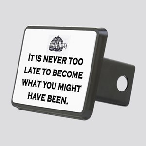 NEVER TOO LATE Rectangular Hitch Cover