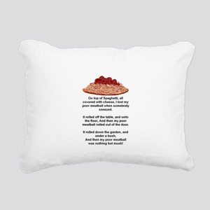 ON TOP OF SPAGHETTI.. Rectangular Canvas Pillow