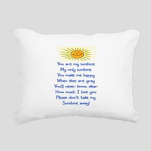 YOU ARE MY SUNSHINE Rectangular Canvas Pillow