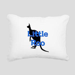 LITTLE ROO (BLUE) Rectangular Canvas Pillow