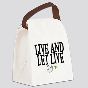 LIVE AND LET LIVE (DOVE) Canvas Lunch Bag