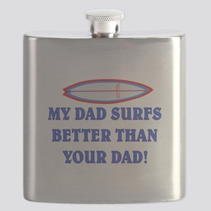DAD SURFS BETTER THAN DAD #2 Flask