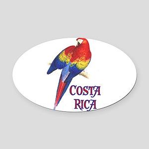 COSTA RICA II Oval Car Magnet