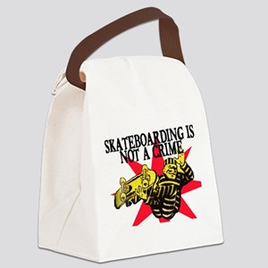 SKATEBOARDING IS NOT A CRIME Canvas Lunch Bag
