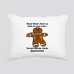 GINGERBREAD MAN! Rectangular Canvas Pillow