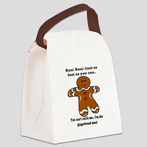 GINGERBREAD MAN! Canvas Lunch Bag