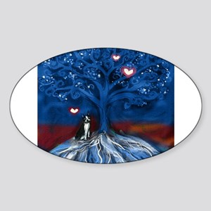 Boston Terrier love night glowing hearts tree Stic