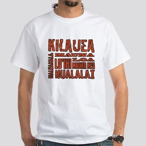 Hawaii's Volcanoes White T-Shirt