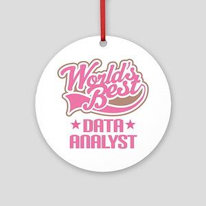 Worlds Best Data Analyst Ornament (Round)