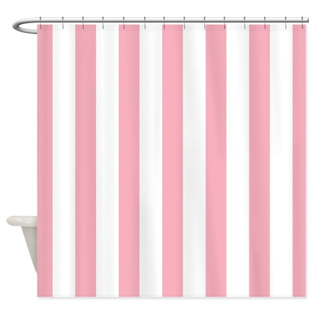 Pink And White Striped Shower Curtains Curtain