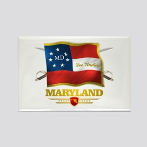 Maryland -Deo Vindice Rectangle Magnet
