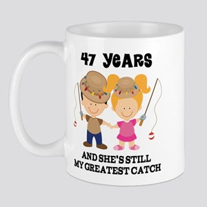 47th Anniversary Mens Fishing Mug