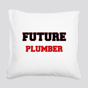 Future Plumber Square Canvas Pillow